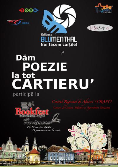 Editura Blumenthal Bucuresti participa la Salonul de Carte BOOKFEST Timisoara editia I: 15,16 si 17 Martie 2012