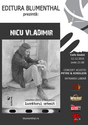 """Lansarea volumului de poezie """"Lucratorul ostenit"""" de NICU VLADIMIR @ Caffe Godot"""